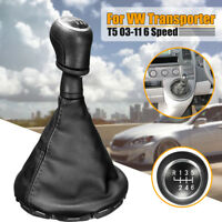6 Speed Gear stick Shift Knob Shifter & Gaiter Boot for VW Transporter T5 T5.1