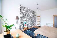 Original wall deco Mural sticker bedroom inspiration geometric patterns