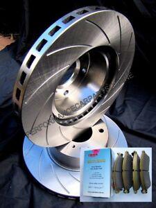 SLOTTED VMAXR fits HOLDEN Colorado RG 2012 Onward FRONT Disc Brake Rotors & PADS