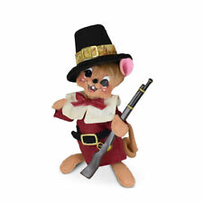Annalee Dolls 2021 Thanksgiving 6in Pilgrim Hunting Mouse Plush New with Tag
