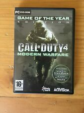 Call of Duty 4: Modern Warfare -- Game of the Year Disc Edition (PC, 2008)