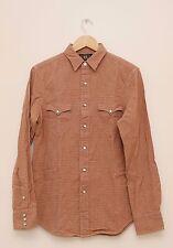 NEW Ralph Lauren RRL DOUBLE RL Men's Cotton Red Checks Western Work Shirt S