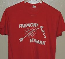 Ymca Vintage 70s Marathon 10K Newark Fremont Red T Shirt Size Medium 50/50 Blend