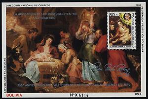 "Bolivia 764b s/s MNH Pope John Paul II, Art, ""Holy Family"" Peter Paul Rubens"