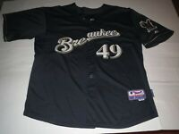 "Misprint ""Breaukee"" Yovani Gallardo Milwaukee Brewers MLB Jersey T-shirt 2XL"