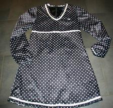 Tommy Hilfiger💞feines Kleid 💞gepunktet schwarz weiß 🎀Satinkleid🎀 Gr.152