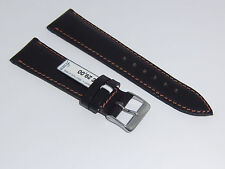 "Watch Band 22 mm Brown ""London"" Fluco (Germany) Genuine English Bridle Leather"