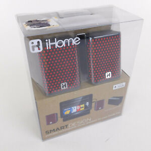 iHome Smart Design Kindle Fire Stereo Speakers Rechargeable Case Cables for Musi