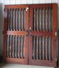 PAIR CUSTOM DOORS WOOD WOODEN WINE CELLAR DOOR 34 x 79 Each