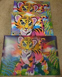 Lisa Frank Forrest Tiger Cub Baby 3 Ring Glitter Binder + Folder + Envelope