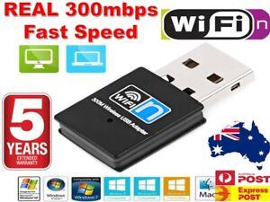 USB Wireless N WiFi Adapter Dongle Network LAN Card 802.11n 300Mbps Windows 10