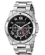 Michael Kors Men's MK8438 Brecken Silver-Tone  Black Dial Watch