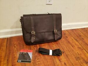 """AS IS Samsonite Brown Leather Business Flapover Case (For 15.6"""" Laptop)"""
