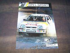 TOPRARITÄT Herrlicher Prospekt Opel Sport Modelle von 1985 Manta Kadett Corsa !!
