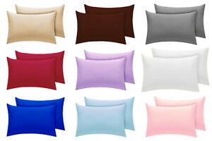 FLANNELETTE HOUSEWIFE PILLOW CASES 50 X 75CM 100% BRUSHED COTTON PILLOWCASE PAIR