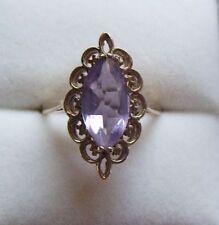 9 Carat Amethyst Ring Edwardian Fine Jewellery