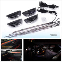 For BMW F10/F11 Upgrade 3 Colors Interior LED Ambient Atmosphere Light Stripes