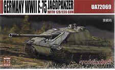 Modelcollect WWII German E-75, Jagdpanzer w 128/L55 Gun in 1/72 069 ST