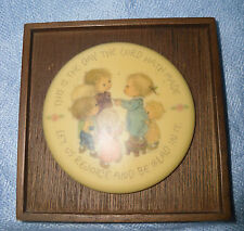 """Hallmark/Little Gallery Betsey Clark Ceramic Plaque """"Day the Lord Hath Made"""""""
