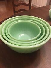Vintage Fire king Swirl Four Piece Nesting Bowls