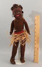 Antique 1920s Norah Welling Felt & Cloth Pacific Islander Tribal Dudu Doll Nr