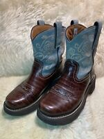 WOMENS ARIAT FAT BABY FATBABY LEATHER WESTERN COWBOY BOOTS SIZE 6 B CLEAN
