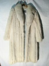 Vintage Saga Fox Fur Full Length Ladies Coat White Women's Jacket