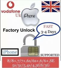 iPhone 8,7,6s,6,SE,5 to 3GS✅VODAFONE uk✅FAST NETWORK UNLOCK✅ONLY IMEI REQUIRED✅