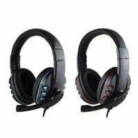 Gaming Headset Stereo Surround Headphone 3.5mm Wired Mic For PS4 Laptop