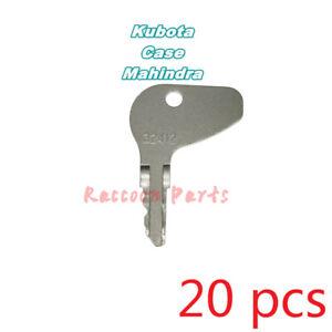 20pcs H32412 Ignition Key Fits Kubota Tractor Case Mitsubishi Cadet Mahindra