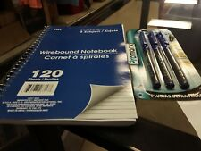 Jot 3 subject notebook and 3 ultra fine pens