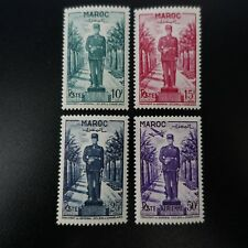 FRANCE COLONIE MAROC N°299/301 + PA N°81 NEUF ** LUXE MNH COTE 12€