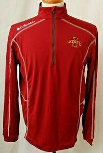New Iowa State University Cyclones Columbia Crimson Embroidered 1/4 Zip Men's XL
