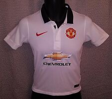 Manchester United White Nike Away Jersey 2014/15 EUC - Youth S Womens 2XS