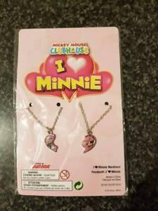 Disney Minnie Mouse Daisy Duck Split Heart Friendship Necklace -Fast & Free Post