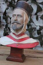 Buste artisanal d'un Spahis Algérien (Fabrication Française) ( Hauteur : 20 cm)