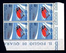 ITALIA REP. - 1966 - Campionati mondiali di bob - 40 L. - Bob a due