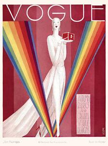 Home Wall Art Print - Vintage Retro Magazine Poster - VOGUE 1926 - A4