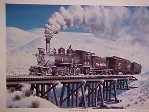 """Railroad Art,Danneman,RARE,DRGW""""West of Cimarron""""12X16"""",a/p#20, mint c-2000"""