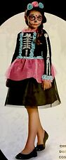 Sweet Skeleton Day of the Dead costume girls large (10-12) by Disguise NWT