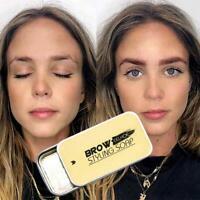 Kit de sourcils de savon de gel de maquillage de plumes 3D durable naturel