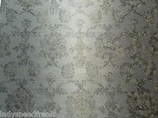 Designers Guild Curtain Fabric SUKUMALA 3.2m Charcoal Linen Mix Damask 320cm