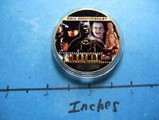 BATMAN JOKER KEATON NICHOLSON DC ENAMEL COLORED HOLLYWOOD NICKEL COPPER COIN #A