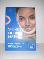 V-Line Lifting Mask Double Chin Reducer Face Slimming Tightening Firming 5 Pcs.