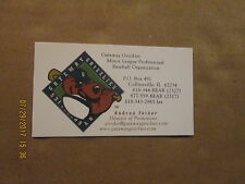 Gateway Grizzlies Baseball Vintage Logo Baseball Business Card