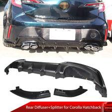 Fit For Toyota Corolla Hatchback E210 Auris Rear Diffuser + Splitter Unpainted