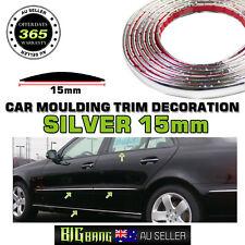 Car Silver Chrome Moulding Molding Trim Strips Exterior Body Edge Guard 4M x15mm