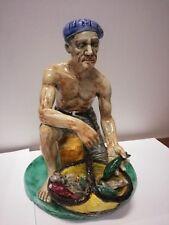 Pescatore in ceramica collezione vintage produzione campana Campania Napoli
