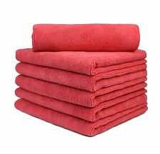 "6 Pcs Microfiber Towel Auto Household Clean Polish Cloths 16""x16"" Rose Pink"