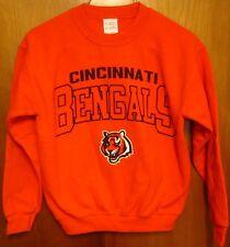 CINCINNATI BENGALS mascot sweatshirt youth med NFL crewneck 1990s